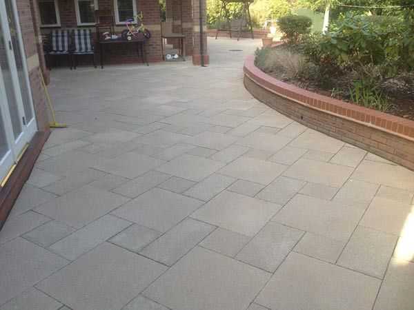 Large Patio in Sutton Coldfield after cleaning